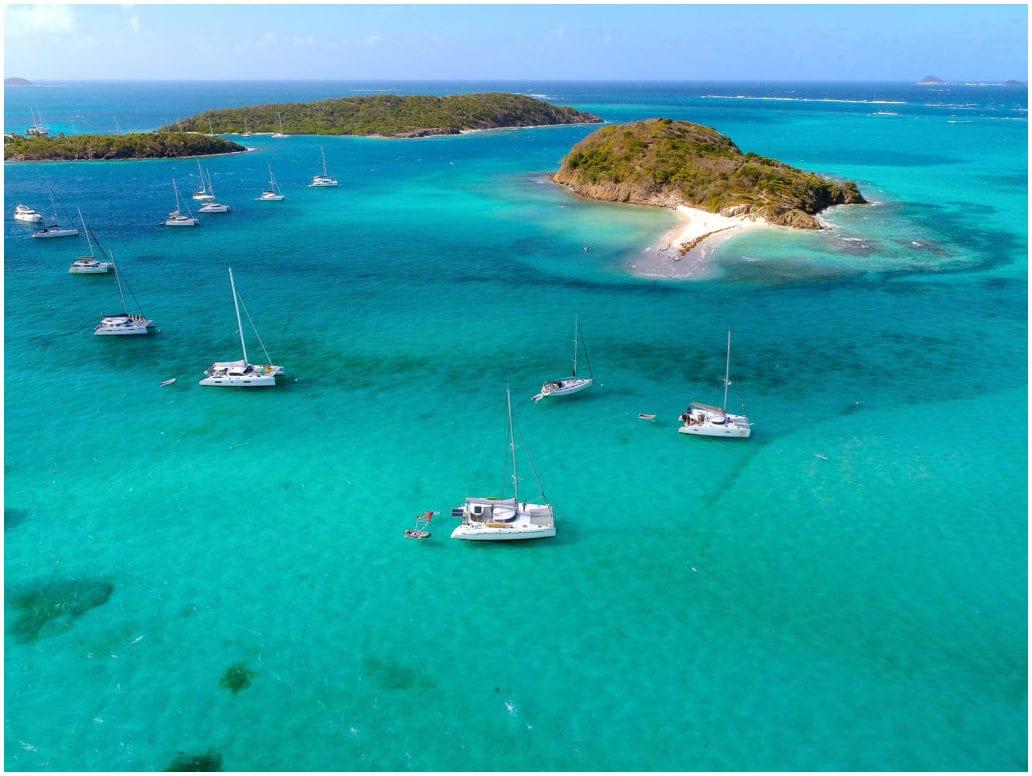 Des bateaux de location, îles Caraïbes