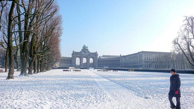 Bruxelles en neige