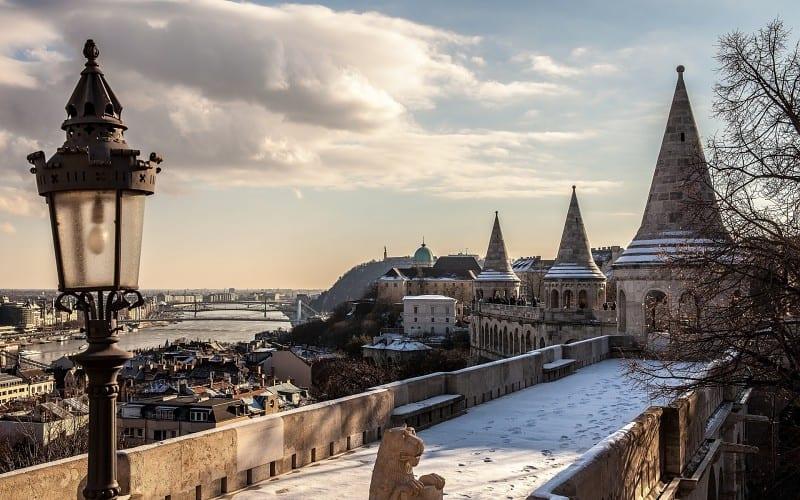 Budapest en neige