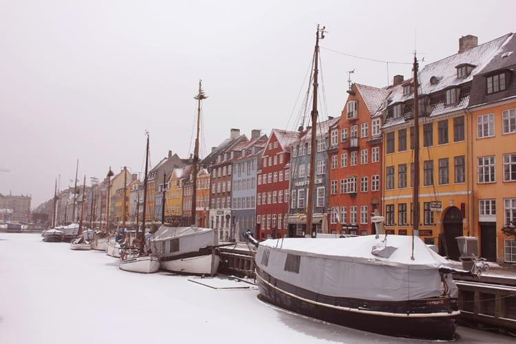 Copenhague en neige