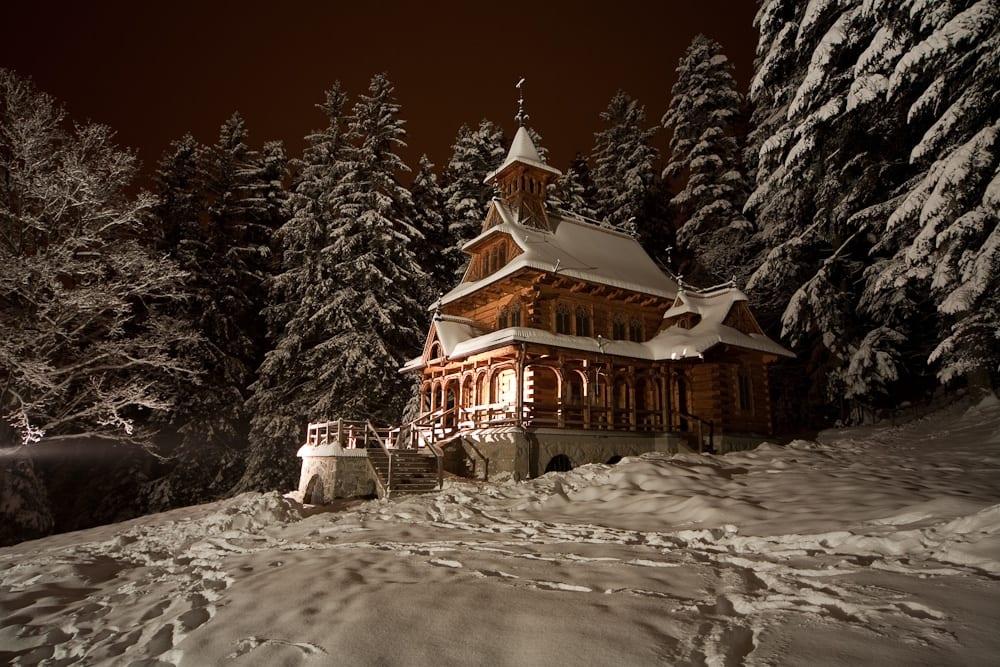 Cracovie en neige