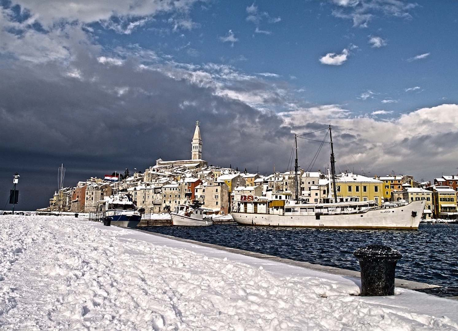 Dubrovnik en neige