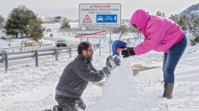 Espagne en neige