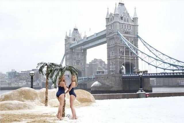 Londres en neige