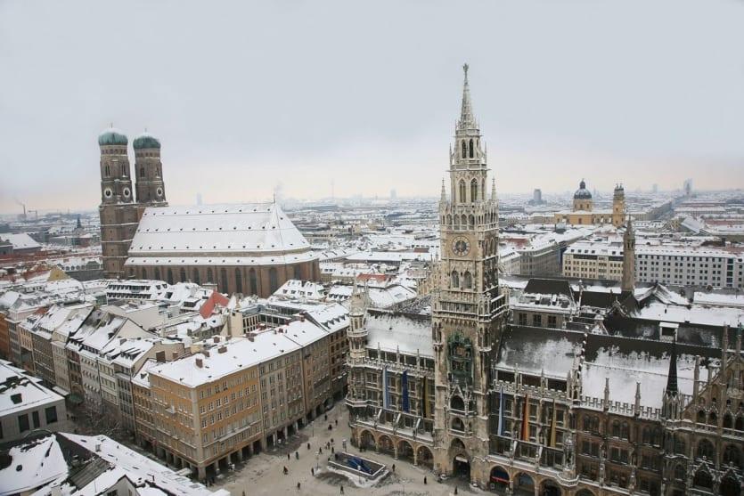 Munich en neige