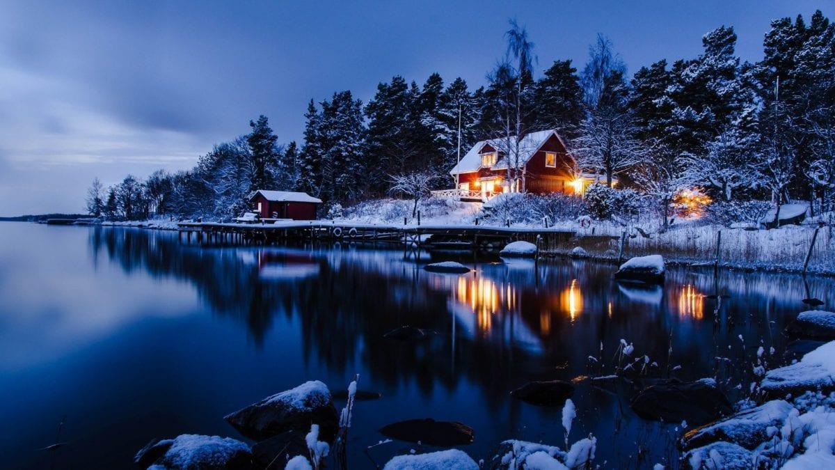 Stockholm en neige