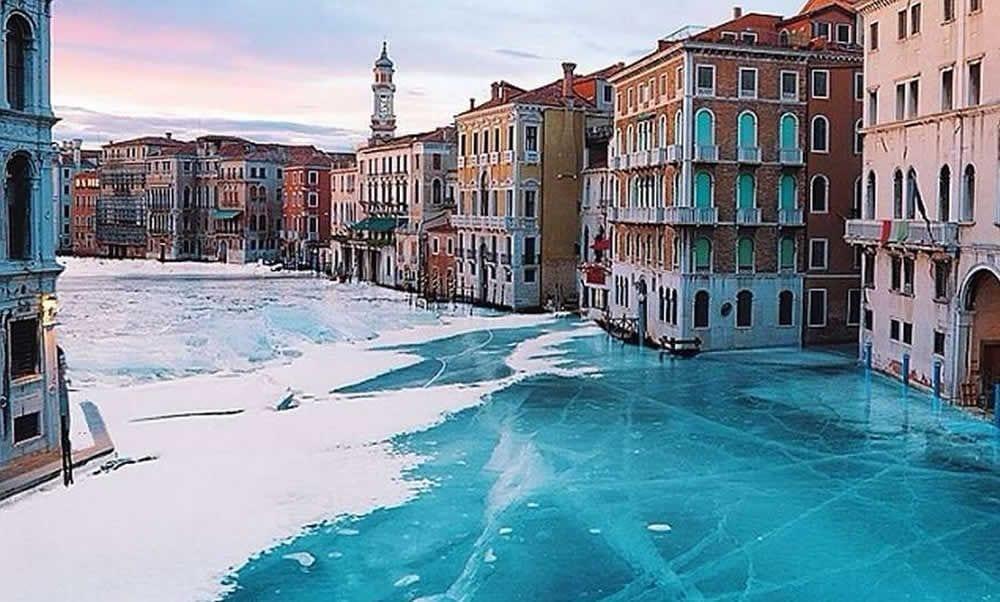 Venise en neige